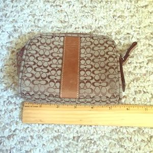 Authentic Coach cosmetic bag